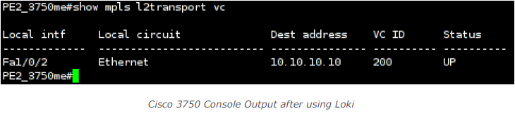 After sending the LDP Label-Mapping-message the configured virtual circuit is activated on the remote side
