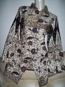 Model Baju Batik Wanita Seragam Kerja Terbaru 2018