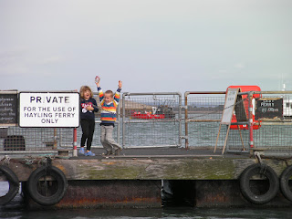 waiting for the ferry on the landing stage