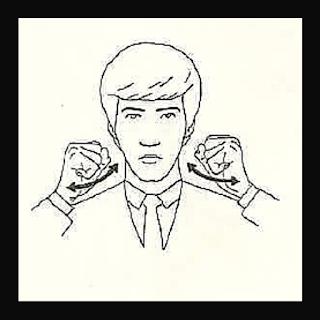 Sinal de cantar com mão configurada em S