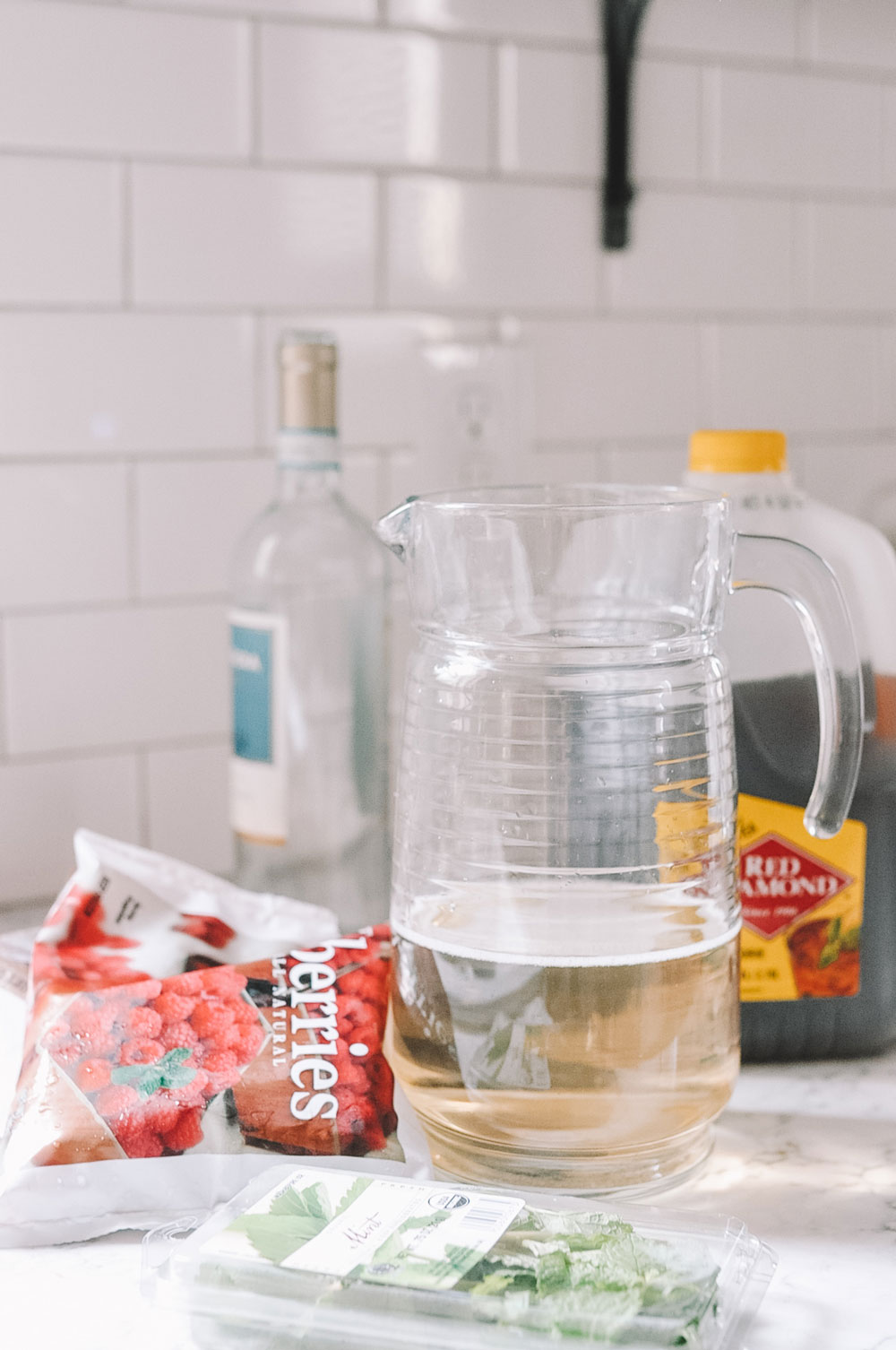 Amanda Martin's white wine sangria for game day watch parties or tailgates