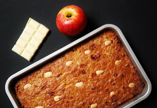 Gâteau pommes amandes chocolat blanc