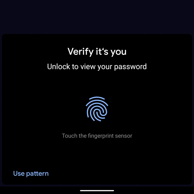 Android Chrome Security Password