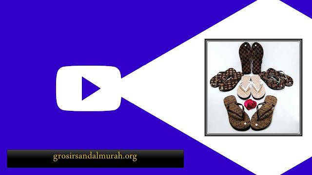 Peluang Bisnis Grosir Sandal || AMX Motif-Bunga Spon Wanita