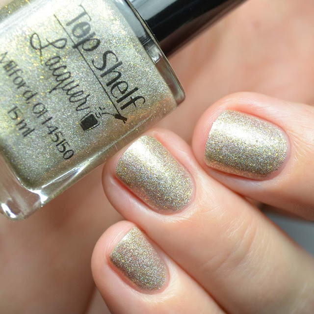 gold flakie holographic nail polish