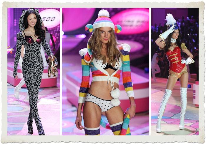Shu Pei Qin, Ieva Laguna e Jacquelyn Jablonski al Victoria's Secret Fashion Show 2012