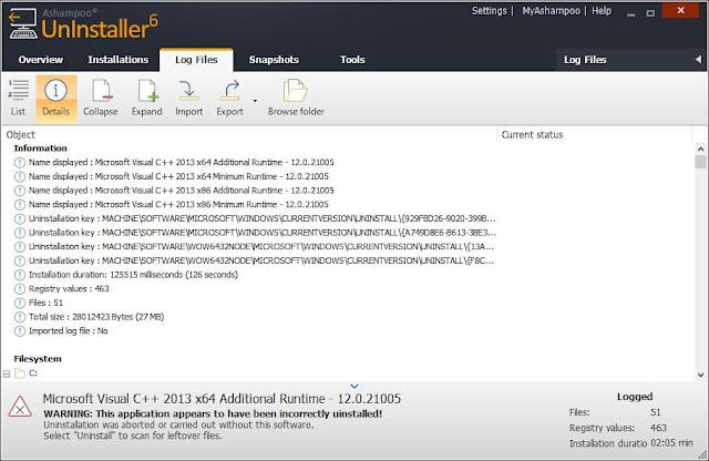تحميل برنامج Ashampoo UnInstaller 6 للغاء وتثبيث التطبيقات والبرنامج بكل سهولة للكمبيوتر