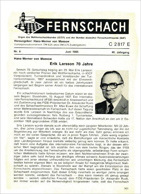 Fernschach Nº6-Junio-1985