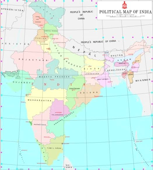 India Map political 2019