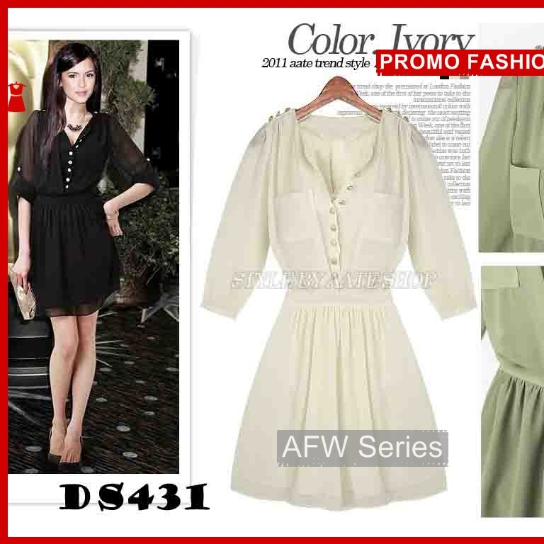 BAMFGW190 Chiffon Dress DS431 Wanita PROMO BMG