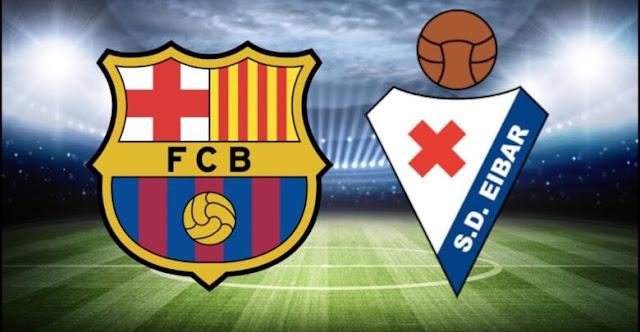 مشاهدة مباراة برشلونة وايبار بث مباشر