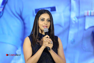 Actress Rakul Preet Singh Stills in Beautiful Blue Long Dress at Dhruva Salute to Audience Event  0131.JPG