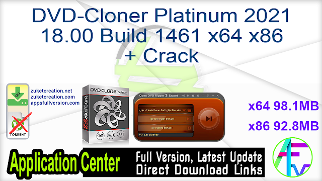 DVD-Cloner Platinum 2021 18.00 Build 1461 x64 x86 + Crack