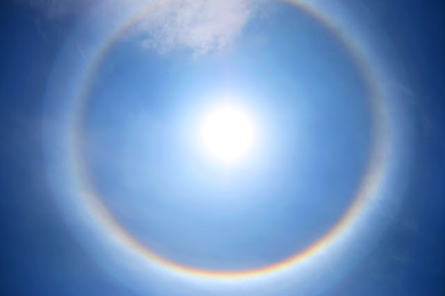 solar halo amazing optical phenomenon in the sky 2015