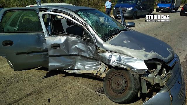 Σοβαρό τροχαίο στην Αργολίδα με μετωπική σύγκρουση οχημάτων