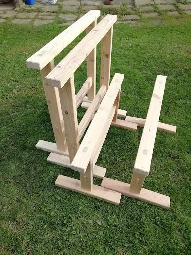 Dřevěné kozy bez jediného vrutu (Mortise-tenon sawhorses)