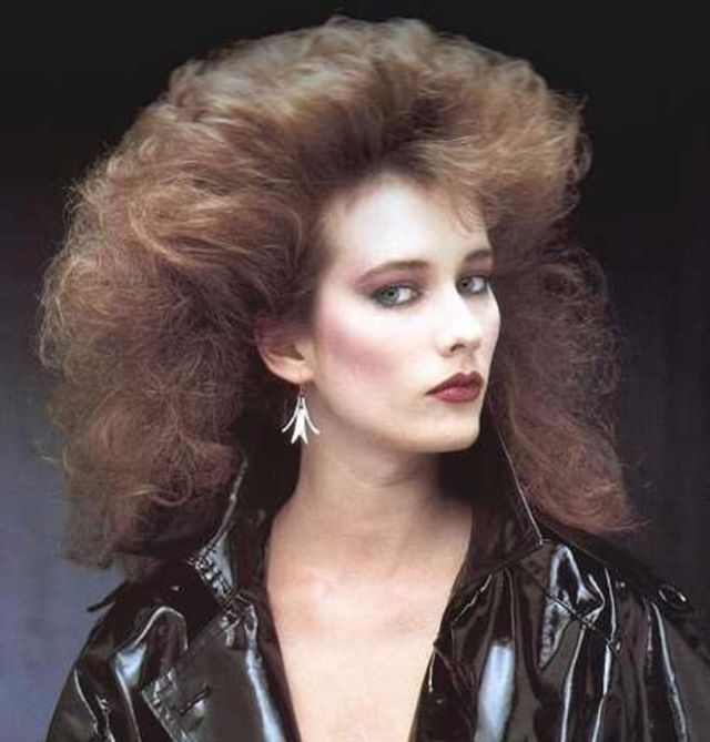 Outstanding Vintage Everyday 1980S The Period Of Women Rock Hairstyle Boom Hairstyle Inspiration Daily Dogsangcom