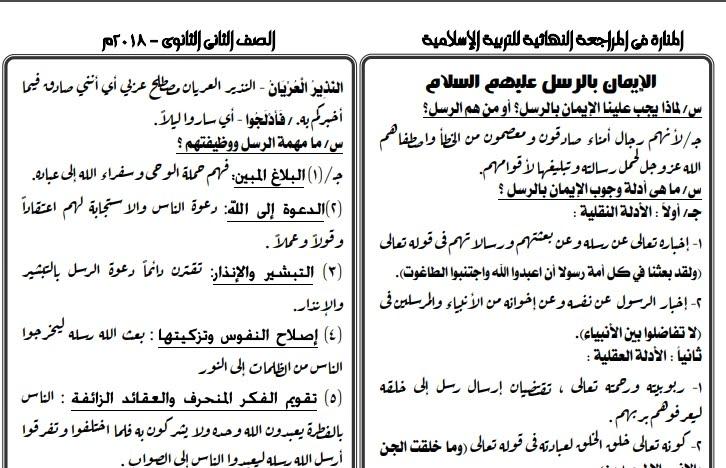 ملزمة الدين الاسلامي للصف الاول الابتدائي الترم الثاني 2020
