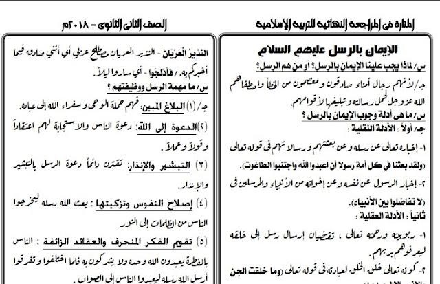 ملزمة الدين الاسلامي للصف الاول الابتدائي الترم الثاني 2019