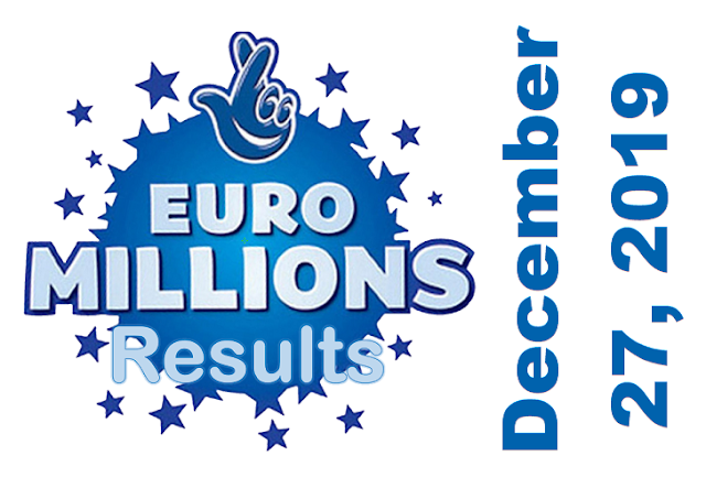 EuroMillions Results for Friday, December 27, 2019