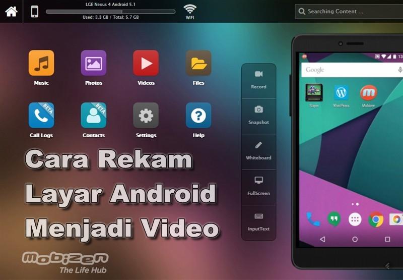 Cara merekam layar android menjadi video 4 Cara Merekam Layar Hp Android Tanpa Root