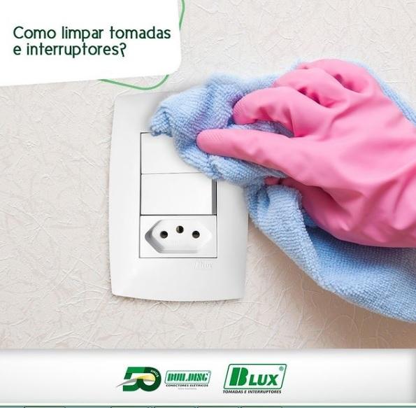 Como limpar tomadas e Interruptores?