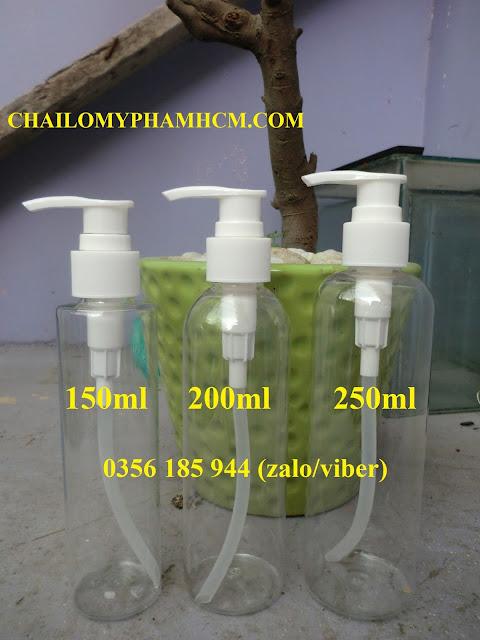 Chai nhựa PET xịt giọt 200ml