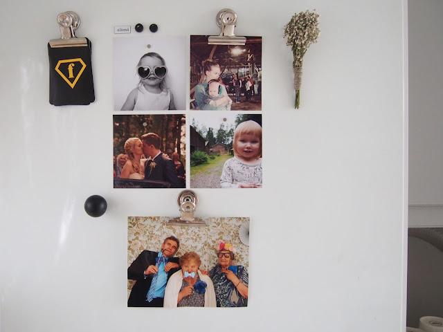 Jääkaapin ovi, annan tirpat, mummot ja isä