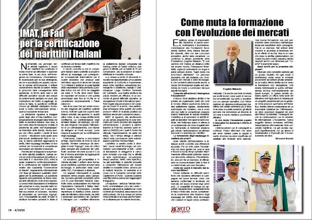 APRILE 2020 PAG. 18 - IMAT, la Fad  per la certificazione dei marittimi italiani