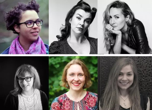 Pictured clockwise from top left: Ella Jarman-Pinto; Janet Oates; Kate Marlais; Lisa Robertson; Rose Miranda Hall; Sarah Lianne Lewis.
