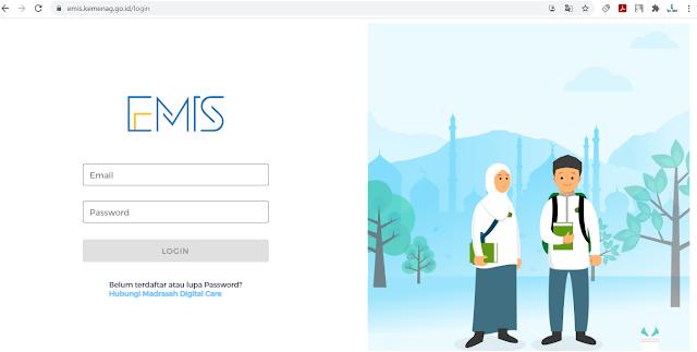 https://emis.kemenag.go.id/login Alamat Website EMIS Terbaru