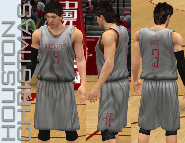 NBA 2K13 Houston Rockets Alternate Jersey NBA 2K13 Houston Rockets X-mas  Jersey bb37382e8