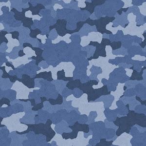迷彩柄のパターン(青)