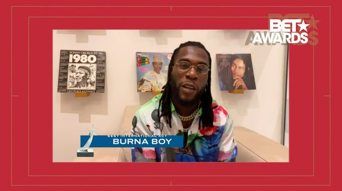 Burna Boy Wins BET Best International Act 2020 (Full List Of Winners)