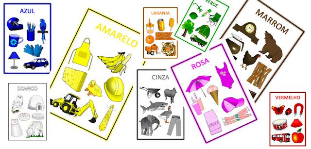 Atividades com cores - Cartazes Educação Infantil