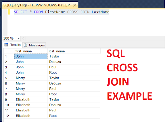Can you join two unrelated tables in SQL? Cross Join Example