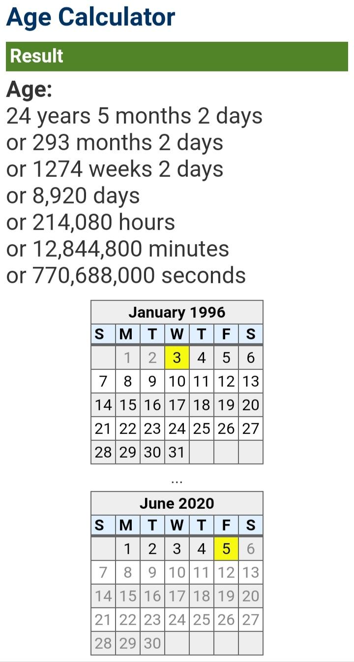 জন্ম তারিখ দিয়ে সহজে সঠিক বয়স বের করুন | বয়স বের করার পদ্ধতি Age Calculator