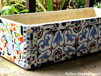 DIY Mediterranes Blumenkübel Mosaik
