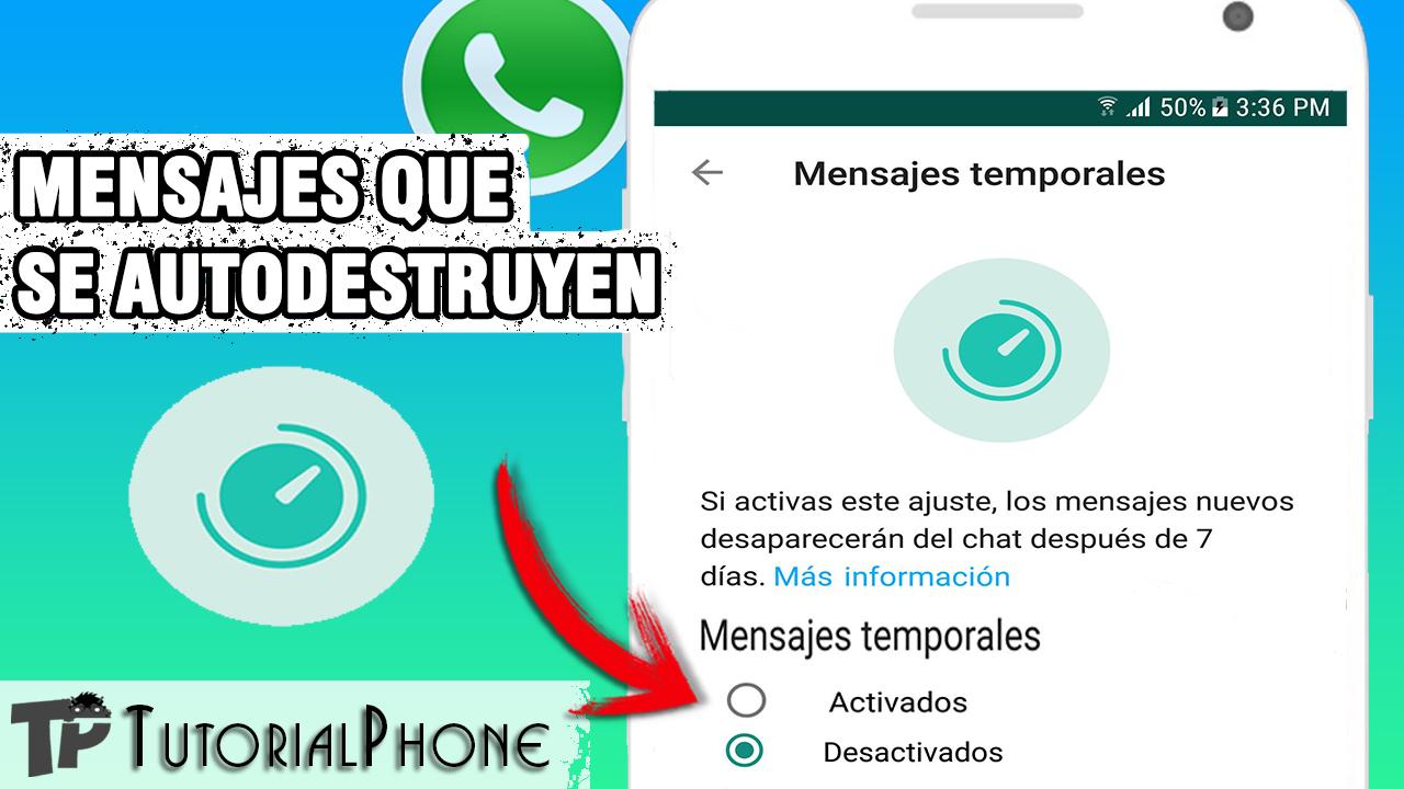 mensajes temporales en WhatsApp