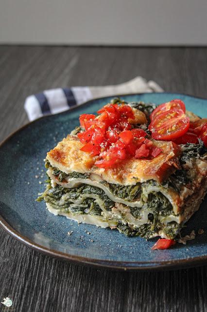 Veggie-Lasagne ohne Hack und ohne Tomatensoße