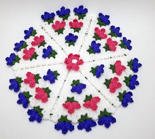 Yuvarlak çiçekli lif modeli