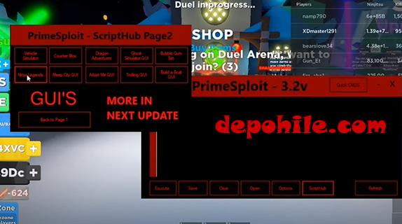 Roblox PrimeSploit Yeni Script Injectleme Programı İndir Bedava