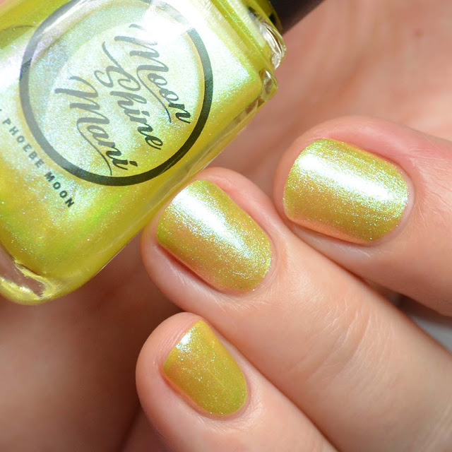 pastel yellow shimmer nail polish