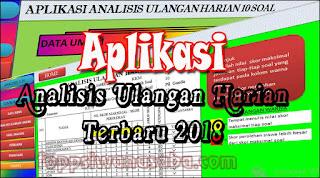 Download Aplikasi Analisis Ulangan Harian K13 Revisi 2018 Terbaru
