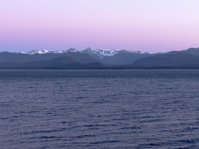 Sunrise over Nahuel Huapi Lake in Bariloche Argentina
