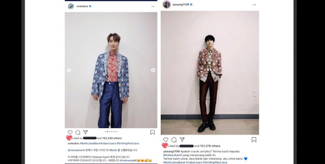 Anggota Boyband Kpop Super Junior Pamer Batik Jabar, Ridwan Kamil Jadi Trending Topic Twitter