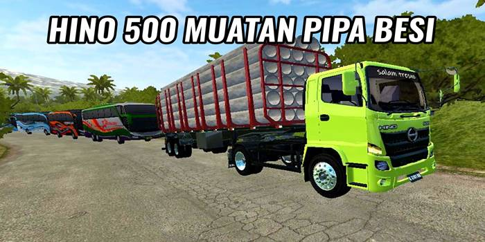 mod hino 500 muatan pipa beton