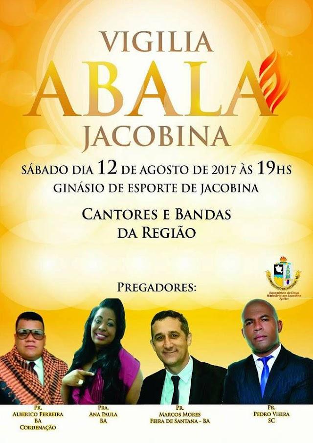 Abala Jacobina logo más no Ginasio de Esportes