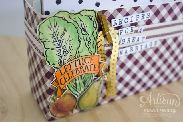 Market Fresh Recipe Card Box (detail) ~ Susan Wong