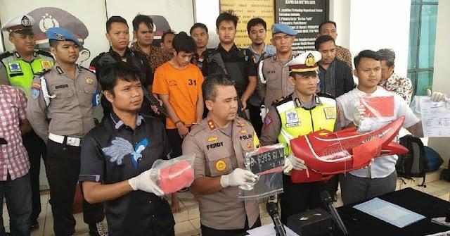 Polisi Ungkap Alasan Adi Saputra Rusak Motor dan Bakar STNK